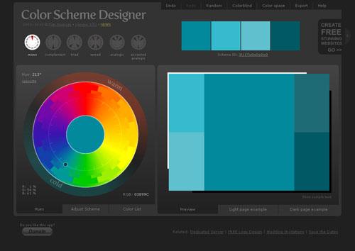 вам создать цветовые схемы