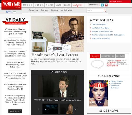 сайт в стиле газеты