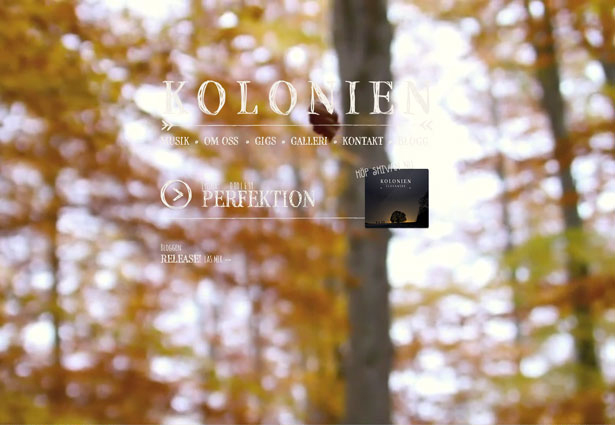 сайт с видеофоном осень