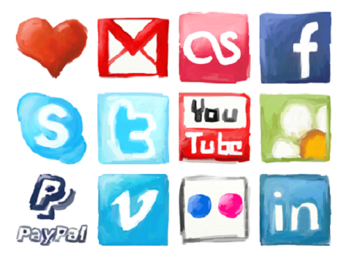 Социальные сети (гуашь)
