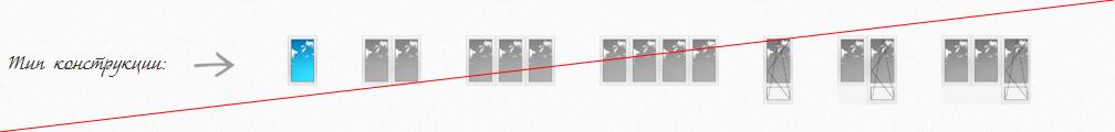 Блок выбора типа окон (анализируемый сайт)