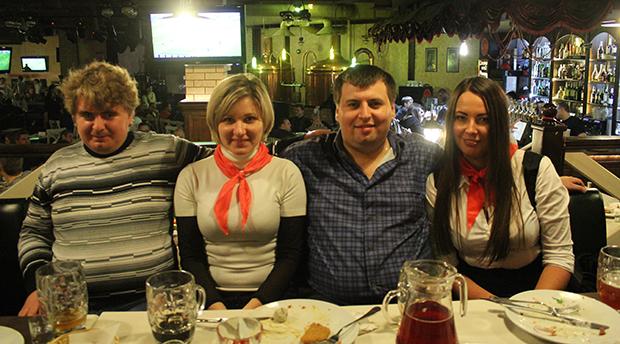 Сережа, Оля, Валера и Анна