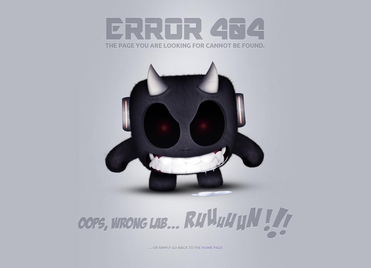 Страничка 404 с угрозой