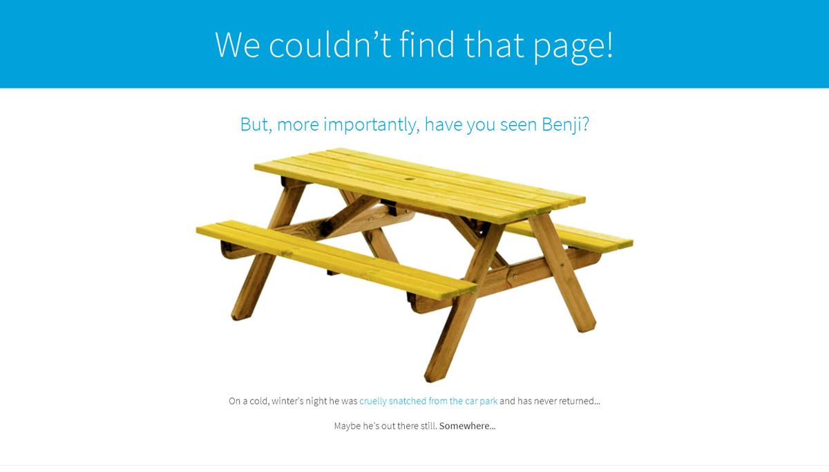 Оригинальное послание на странице 404