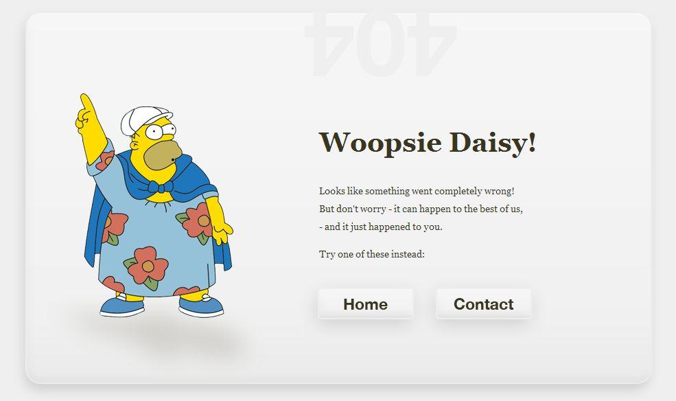 Остроумная страница 404